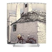 Red Bicycle Shower Curtain