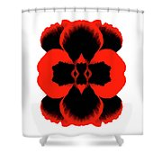 Red Black Botanical Summer Shower Curtain