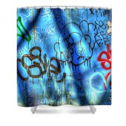 Red, Blue, And Black Tags Shower Curtain
