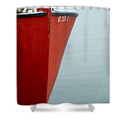 Red Boat Shower Curtain