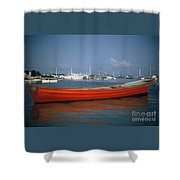 Red Boat Mexico Shower Curtain
