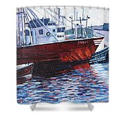 Red Boats Shower Curtain