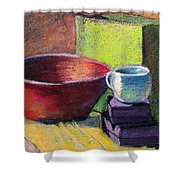 Red Bowl Shower Curtain