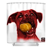 Red Boxer Mix Dog Art - 8173 - Wb Shower Curtain