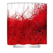 Red Expression Shower Curtain