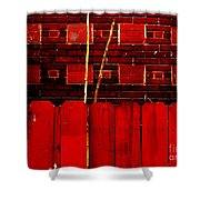 Red Brick And Sticks Shower Curtain
