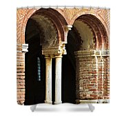 Red Brick Arches Regular Shower Curtain