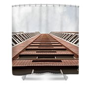 Red Brick Road Shower Curtain