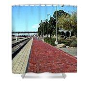 Red Brick Walkway Shower Curtain
