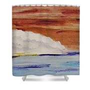 Red Brown Sky Shower Curtain
