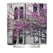 Red Buds And San Antonio City Hall Shower Curtain