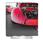 Red Bug Shower Curtain
