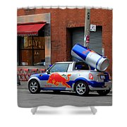 Red Bull Car Shower Curtain