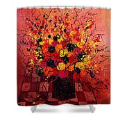 Red Bunch Shower Curtain