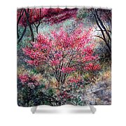 Red Bush Shower Curtain