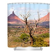Red Buttes Shower Curtain