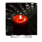 Red Candle Shower Curtain