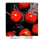 Red Candy Apples Or Apple Taffy Shower Curtain