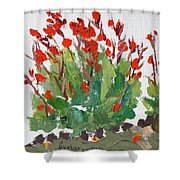 Red Canna  Shower Curtain