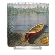 Red Canoe 3  Shower Curtain
