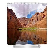 Red Canyon Reflections Shower Curtain
