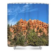 Red Canyon Tableau Shower Curtain