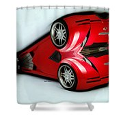 Red Car 007 Shower Curtain