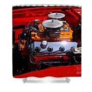 Red Car Engine  Shower Curtain