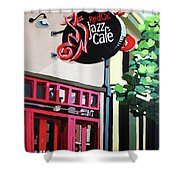 Red Cat Jazz Cafe Shower Curtain