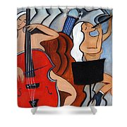 Red Cello 2 Shower Curtain
