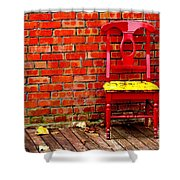 Red Chair  Shower Curtain