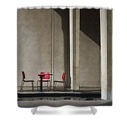 Red Chairs Shower Curtain