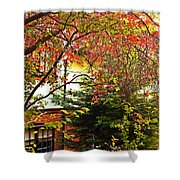 Red Charm Shower Curtain