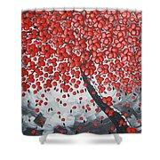Red Cherry Tree Shower Curtain