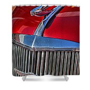 Red Chevrolet Grill And Hood Ornament Shower Curtain