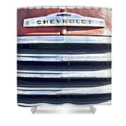 Red Chevrolet Grill Shower Curtain