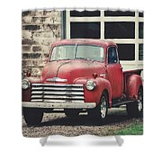 Red Chevrolet Shower Curtain