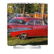 Red Chevy  Shower Curtain