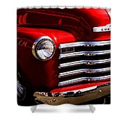 Red Chevy Truck Shower Curtain