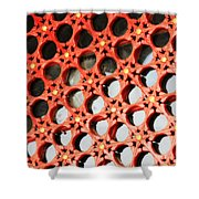 Red Chinese Window Shower Curtain