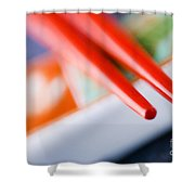 Red Chopsticks Shower Curtain