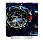 Red-chrome-blue Shower Curtain