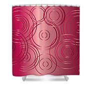 Red Circle Background Shower Curtain