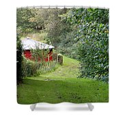Red Cistern Shower Curtain