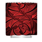 Red City 3 Shower Curtain