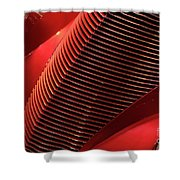 Red Classic Car Details Shower Curtain