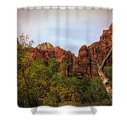 Red Cliffs Mountains Zion National Park Utah Usa Shower Curtain