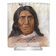Red Cloud Shower Curtain by Brandy Woods