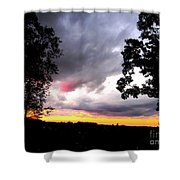 Red Cloud, Pittsburgh, Pa  Shower Curtain