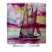 Red Cloud Sail Shower Curtain